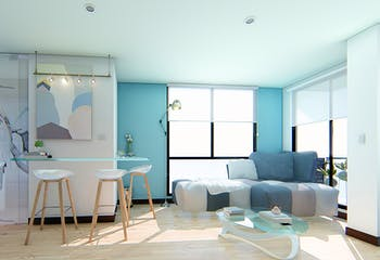 City Live 104, Apartamentos nuevos en venta en Santa Paula con 1 habitacion