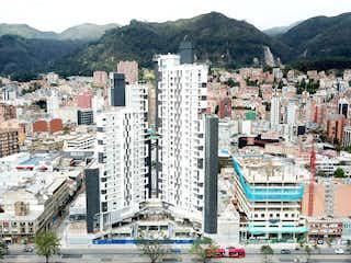 Una vista de una ciudad en medio de una ciudad en TORRE SUR OIKOS INFINITUM