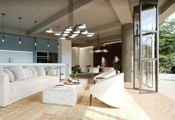 Apartamento en El Campestre, El Poblado con terraza y 2 habitaciones - 264 mt2.