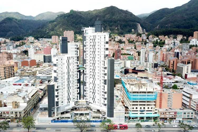 Portada Apartaestudio de 44m2 en Chapinero, Bogotá - excelente ubicación