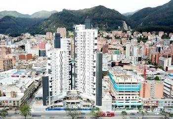Apartaestudio de 44m2 en Chapinero, Bogotá - excelente ubicación
