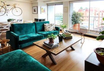 Apartamento en Bella Suiza de 78 mts más 6 mts de balcón, sexto piso.