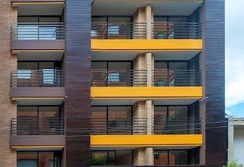 Apartaestudio en Rosales, Chico - 49mt, una alcoba, balcon