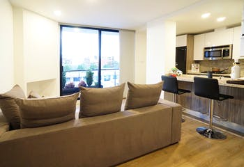 Apartamento en Santa Barbara Central de 55 mts, tercer piso