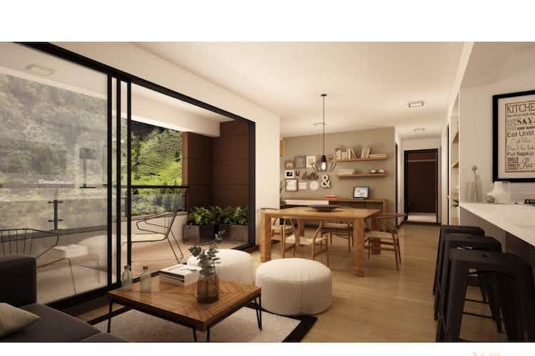 Portada Apartamento en El Retiro, Puro Cuero - 79mt, dos alcobas, balcón