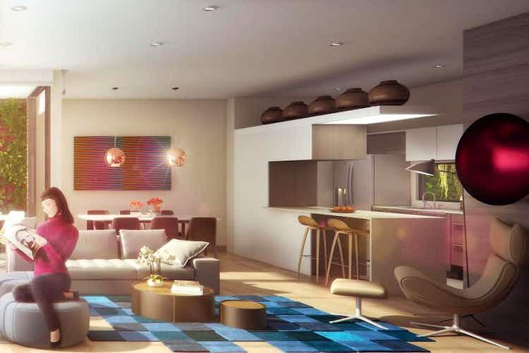 Portada Apartamento penthouse en El Virrey, Chicó con terraza y 2 garajes - 106 mt2.