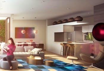 Apartamento penthouse en El Virrey, Chicó con terraza y 2 garajes - 106 mt2.