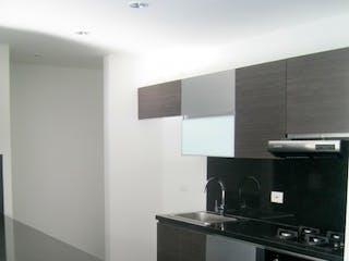 Una cocina con una estufa y un fregadero en Apartamento en Santa Barbara Occidental con 2 habitaciones y 2 parqueaderos - 63 mt2.