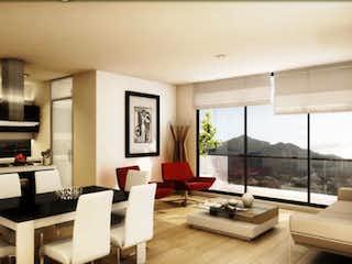 Una sala de estar llena de muebles y una gran ventana en Apartamento En Venta En Bogota La Carolina- con gimnasio, dos alcobas