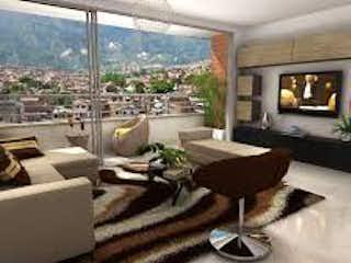 Una sala de estar llena de muebles y una chimenea en Apartamento en Venta MANCHESTER