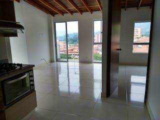 Cocina con nevera y horno de fogones en Apartamento en Venta LA ESTRELLA