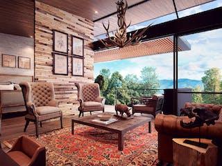 Una sala de estar llena de muebles y una ventana en Sierra Grande II