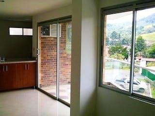 La vista de la cocina desde la ventana en Alameda
