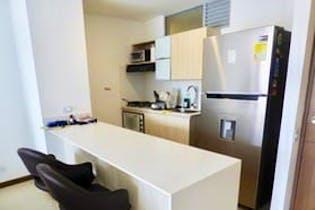 Apartamento en venta en Los Balsos, 61m² con Gimnasio...