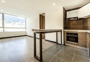 Apartamento en Chapinero con cocina eléctrica de 63m2.