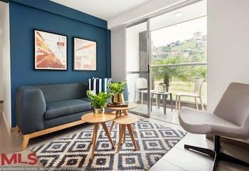 Apartamento en venta en Loma de los Bernal de 63.31 mt2. con balcón