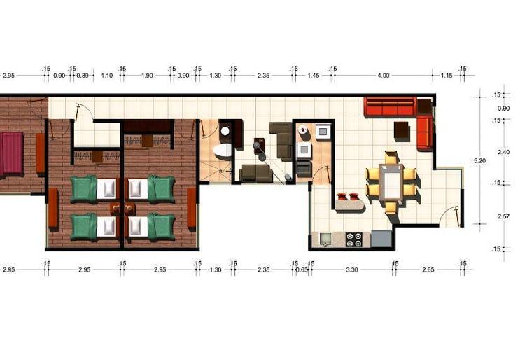 Foto 3 de Departamento en venta en la Narvarte de 112 m2