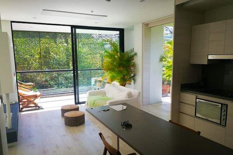 Portada Apartamento en Alto de las Palmas, Envigado - 95mt, una alcoba, balcón