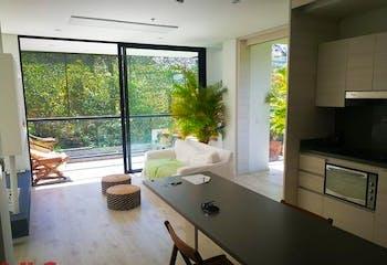 Apartamento en Alto de las Palmas, Envigado - 95mt, una alcoba, balcón