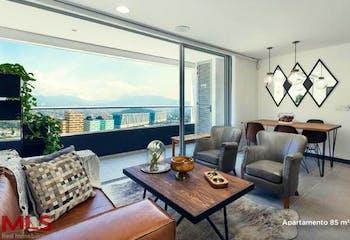 Apartamento en Ciudad del Rio, Poblado - 104mt, tres alcobas, balcón