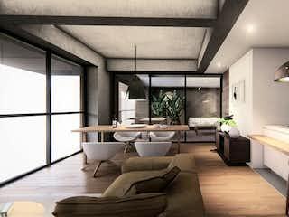 Una gran sala de estar con un gran ventanal en Monet