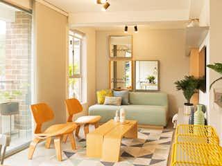 Una sala de estar llena de muebles y una planta en maceta en Reserva Serrat - Origen