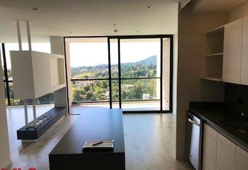 Apartamento en Alto de las Palmas, Envigado - 76mt, una alcoba, balcón