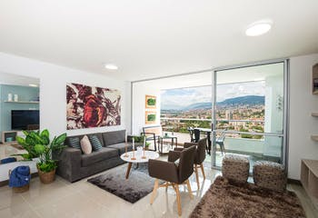 Apartamento en La Cueca, Envigado - 70mt, dos alcobas, balcón