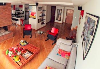 Apartamento en Rosales, Chico - 137mt, tres alcobas, chimenea