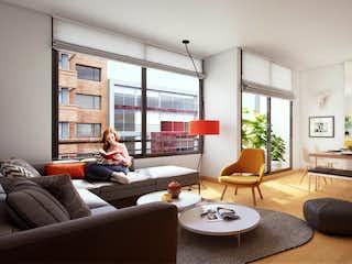 Una sala de estar llena de muebles y una televisión de pantalla plana en DC
