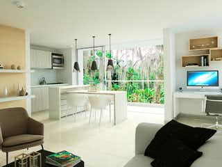 Una sala de estar llena de muebles y una televisión de pantalla plana en Arizá - Verde Vivo