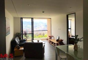 Apartaestudio en Loma del Escobero, Envigado - 70mt, una alcoba, balcón