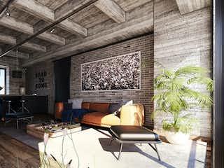 Una sala de estar llena de muebles y una televisión de pantalla plana en Portello Lofts