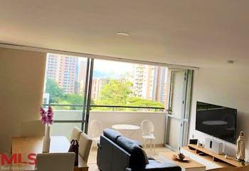 Apartamento en Los Balsos, Poblado - 64mt, una alcoba, balcón