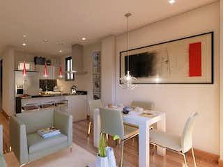 Una sala de estar llena de muebles y una televisión de pantalla plana en Torres de San Nicolás