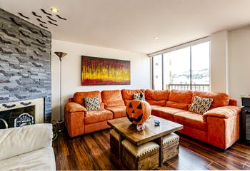 Apartamento con chimenea en Colina campestre de 174m2