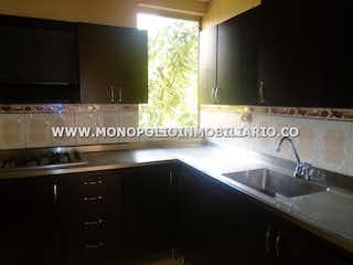 Una cocina con lavabo y microondas en CIUDADELA SAN DIEGO 401