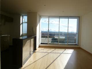 Una vista de una habitación con una puerta corredera de cristal en Apartamento en La Campiña, Suba - Tres alcobas