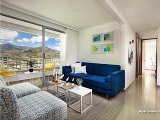 Una sala de estar llena de muebles y una ventana en Poblado Niquía