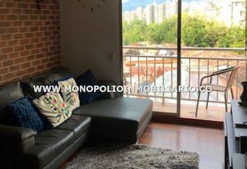 Apartamento en La Abadia, Envigado - 66mt, tres alcobas, balcón