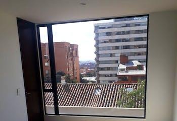 Apartamento en Usaquén - Sala comedor con chimenea, parqueadero doble cubierto